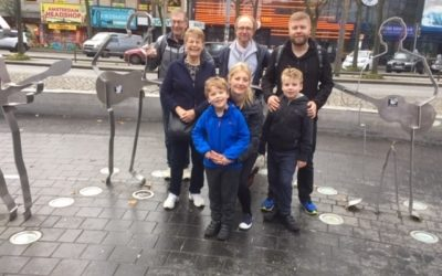 Family trip to Hamburg – on Beatles Square
