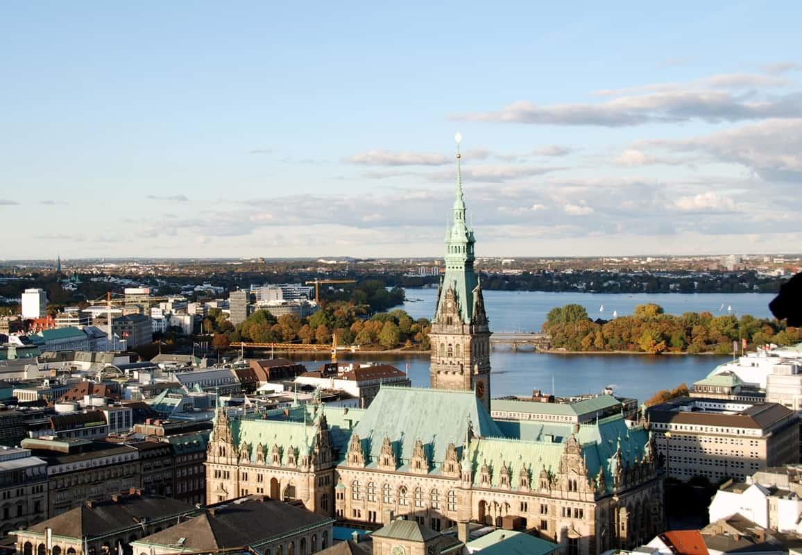 Hamburger Innenstadt Rundgang: Rathaus von oben - Foto: Hamburg-Greeter