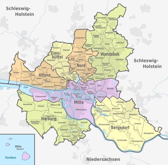 Hamburg Districts