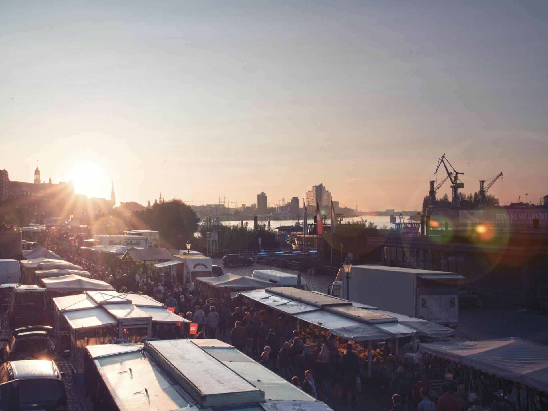 Hamburger Fischmarkt - Foto: Mediaserver Hamburg