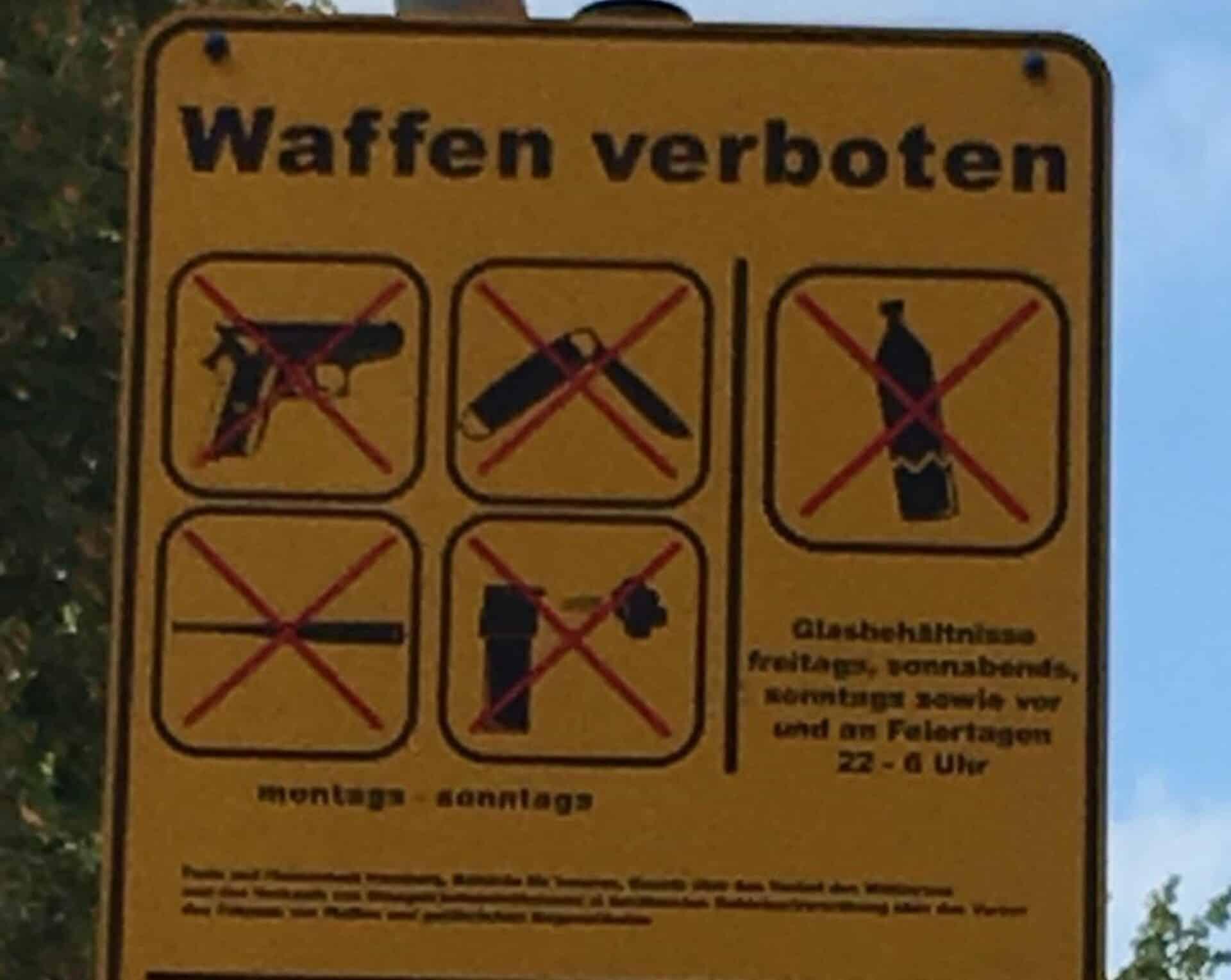 Reeperbahn Waffenregelung - Foto: Hartmut Roderfeld