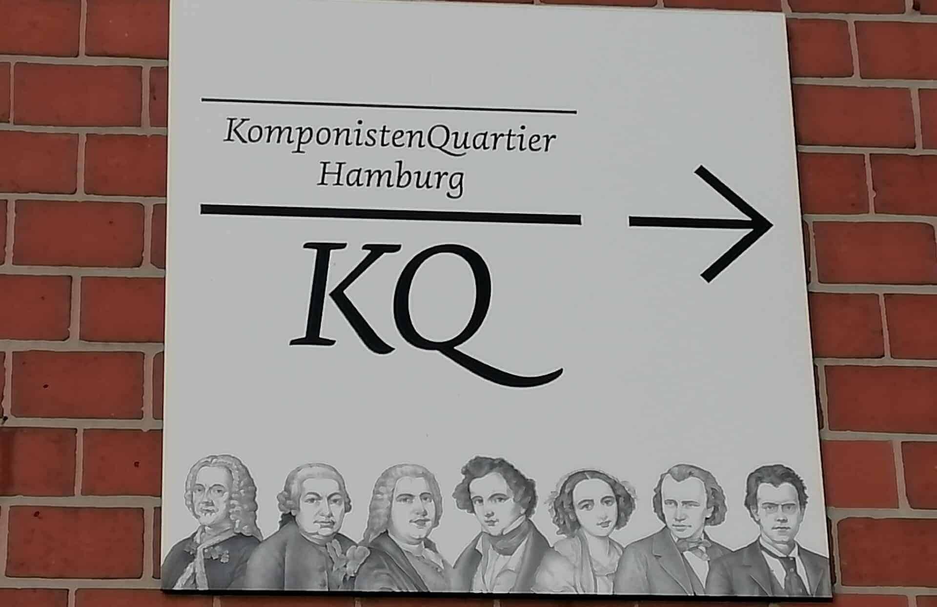 Hinweisschild KomponistenQuartier